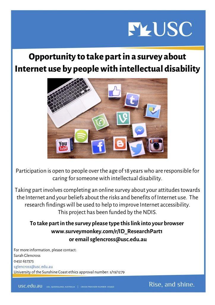 Flyer promoting survey