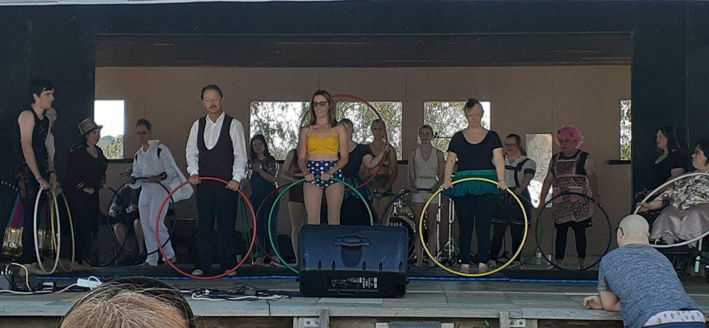 Sunshine Troupe performing.